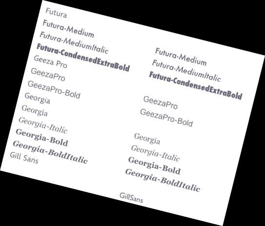 Schriftarten für Arbeitsblätter